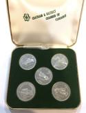 Canada: 1975-1979 Chatham Ontario Automobile Trade Dollar Set (5 Coins)