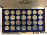 Canada: 1976 Montreal Olympic 28 piece Silver Coin Set