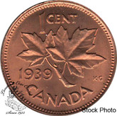 Canada: 1939 1 Cent MS63 Red