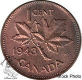 Canada: 1943 1 Cent MS62 Red & Brown
