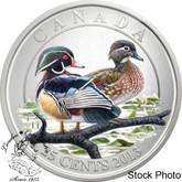 Canada: 2013 25 Cents Wood Ducks Coloured Coin