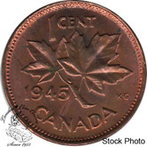 Canada: 1945 1 Cent MS62 Red & Brown