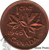 Canada: 1945 1 Cent MS63 Red