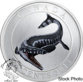 Canada: 2013 25 Cents Tylosaurus Dinosaur Glow in the Dark Coin