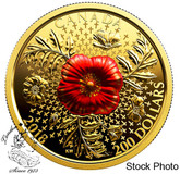 Canada: 2018 $200 Armistice Poppy 1 oz. Pure Gold Coin