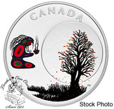 Canada: 2018 $3 Thirteen Teachings From Grandmother Moon: Falling Leaves Moon Pure Silver Coloured Coin