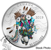 Canada: 2019 $30 Fancy Dance 2 oz. Pure Silver Coloured Coin