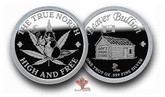 Beaver Bullion Silver 1 oz Round The True North High & Free