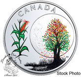 Canada: 2018 $3 Thirteen Teachings From Grandmother Moon: Corn Moon Pure Silver Coloured Coin
