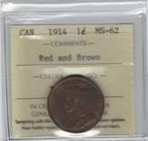 Canada: 1914 1 Cent ICCS MS62