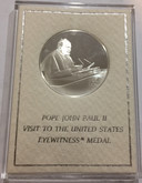 Pope John Paul II Visit To U.S. Eyewitness Medal .925 Silver Franklin Mint