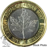 Canada: 2018 25 Cent Size R&D Security Tri-Metal Test Token with Die Crack
