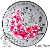 Canada: 2019 $8 Brilliant Cherry Blossoms Pure Silver Coin