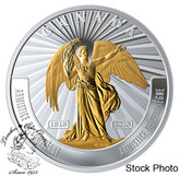 Canada: 2018 $20 The Armistice of Compiègne 1 oz. Pure Silver Selectively Gold-Plated Coin