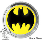 Barbados: 2019 $1 Batman The Bat Signal™ Pure Silver Glow-in-the-Dark Coin
