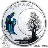 Canada: 2018 $3 Thirteen Teachings From Grandmother Moon: Big Spirit Pure Silver Coin