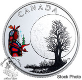 Canada: 2018 $3 Thirteen Teachings From Grandmother Moon: Little Spirit Pure Silver Coin