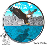 Canada: 2019 $20 Bald Eagle Reflection 1oz. Pure Silver Coin