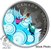 Canada: 2019 $20 Mystical Snow Day 1oz. Pure Silver Coin