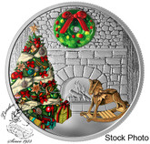 Canada: 2019 $20 Murano Holiday Wreath 1oz. Pure Silver Coin