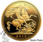 Canada: 2018 $20 The 1908 Sovereign: 110th Anniversary of the Royal Canadian Mint 1 oz. Pure Silver Gold-Plated Coin