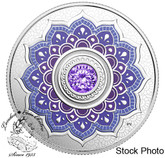 Canada: 2018 December Birthstone Pure Silver Coin made with Swarovski® Crystal