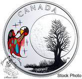 Canada: 2018 $3 Thirteen Teachings From Grandmother Moon: Freezing Moon Pure Silver Coloured Coin