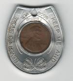1980 Encased Lucky Penny Token Souvenir of U.S.S. Massachusetts