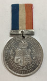 1911 Aluminum Coronation Medal George V & Queen Mary with Ribbon