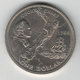 New Zealand: 1969 1 Dollar Cook's Chart