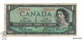 Canada: 1954 $1 Bank Of Canada Banknote Beattie-Coyne BC-37a Circulated