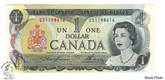 Canada: 1973 $1 Bank Of Canada Banknote Lawson-Bouey BC-46a 2 Letters UNC