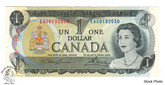 Canada: 1973 $1 Bank Of Canada Banknote Lawson-Bouey BC-46a 3 Letters UNC