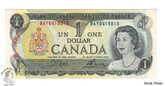 Canada: 1973 $1 Bank Of Canada Banknote Crow-Bouey BC-46b 3 Letters UNC