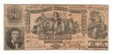 United States: 1861 $20 Confederate States Richmond 2503