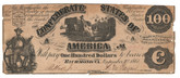 United States: 1861 $100 Confederate States Richmond