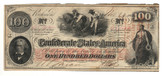United States: 1862 $100 Confederate States Richmond