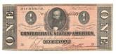 United States: 1864 $1 Confederate States Richmond