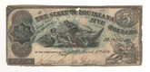 United States: 1863 $5 The State of Louisiana