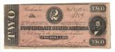 United States: 1864 $2 Confederate States Richmond