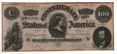 United States: 1864 $100 Confederate States Richmond