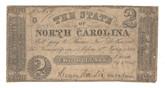 United States: 1861 $2 State of North Carolina