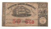 United States: 1870 50 Cents State of North Carolina