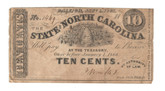 United States: 1863 10 Cents State of North Carolina