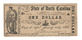 United States: 1866 Dollar State of North Carolina