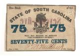United States: 1863 75 Cents State of South Carolina