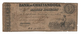 United States: 1863 $3 Bank of Chattanooga