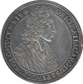 Austria: Olmutz 1704 Karl III Josef Taler EF40