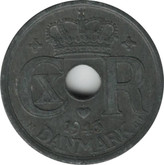 Denmark: 1943 N GJ 25 Ore