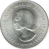 Denmark: 1964 Silver 5 Kroner BU